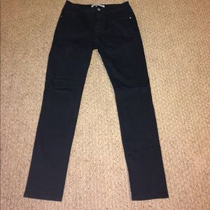 Black ripped skinny jeans from Francesca's