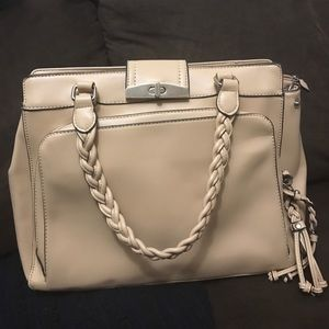 Structured purse with braiding detail