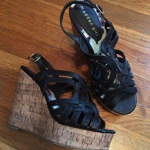 0590632e66a Madden Girl Shoes - NEW! Madden Girl Elite Wedge Sandel Black 6