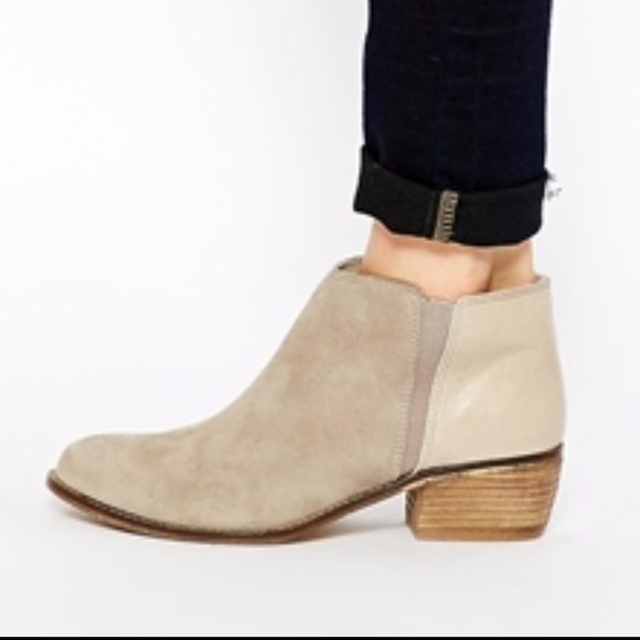 bb7517a024f5 Dune London Shoes - Dune London Penelope taupe gray suede Ankle Boots