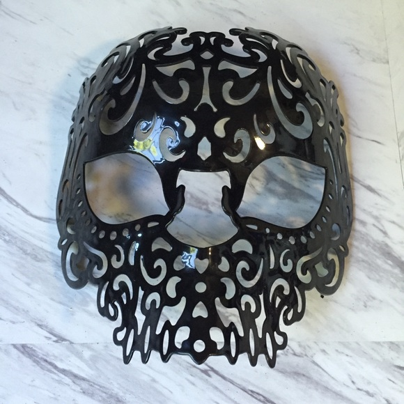 black sugar skull halloween mask