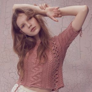 For Love And Lemons Knitz Crop Sweater