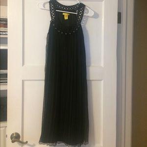 Super cute pleated black dress.