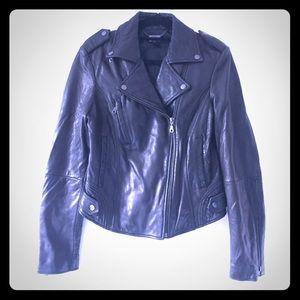 🚺 DKNY Real Lambskin Leather Jacket