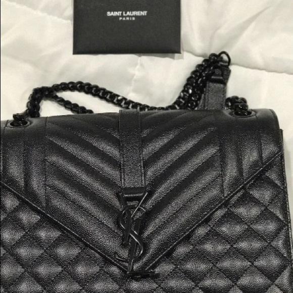 YSL Black Quilted Side Bag. M 59d044a278b31c3a47074e20 c9146c5d3f1c3