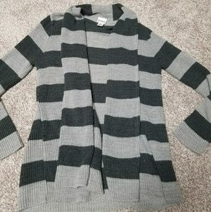 Motherhood Maternity Stripe Cardigan Sweater S