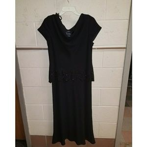 Size 14 Black lightly beaded dress