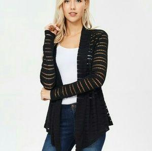 Striped black cardigan