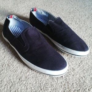 TOMMY HILFIGER Men Shoe Textile Fabric Shoe Blue