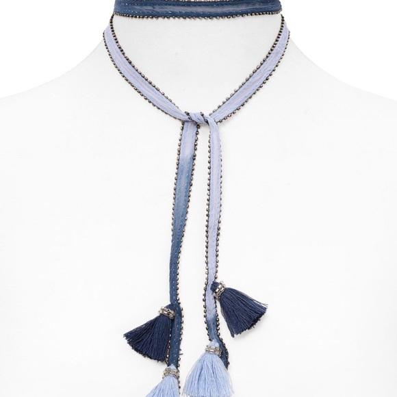 Chan Luu Beaded Tassel Choker Necklace QDwJ9sm8