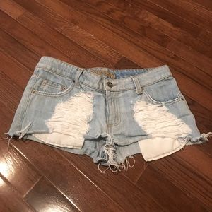 Carmar Ripped Cropped Denim Jean Shorts Size 27