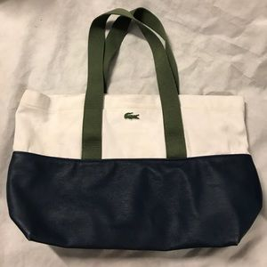 558eda1b9 Lacoste Bags - Lacoste dipped cotton canvas tote