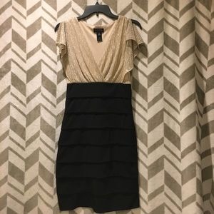 Dresses - Gold and black party dress
