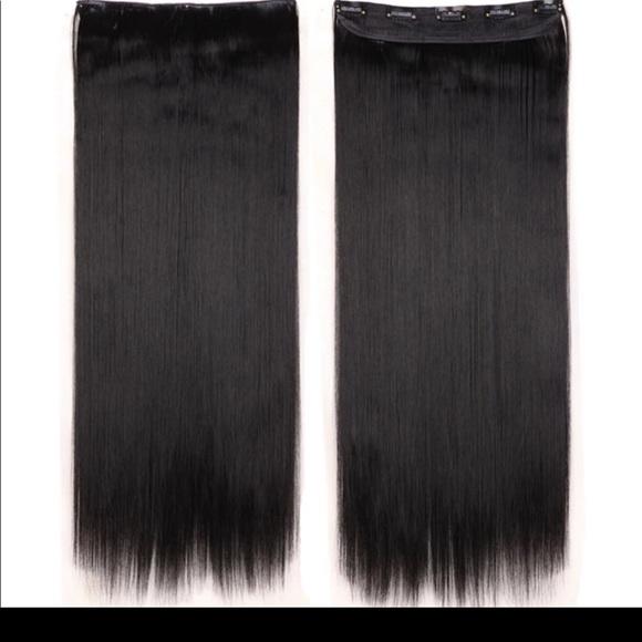 Accessories Flash Sale 1pc Clipin Black Hair Extension Poshmark