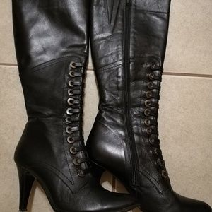 Caster leather boots