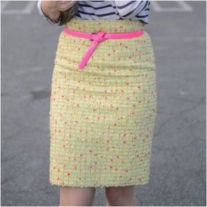 J. Crew Skirts - J.Crew • Neon Tweed Pencil Skirt