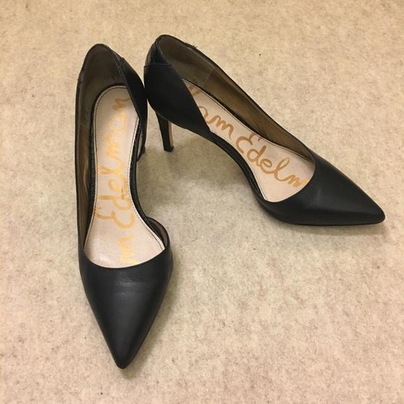 968131be44e80f Sam Edelman Onyx Half d Orsay Pointed Toe Heels. M 59d05dd47f0a05f3d807bfed