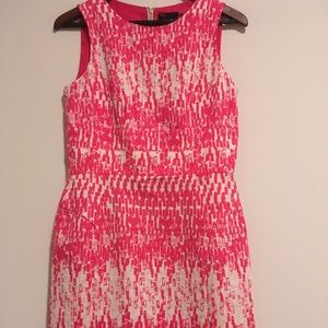 Just Taylor Pink/White A line dress size 6