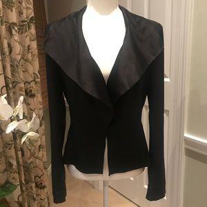Tabitha Anthropologie Silk Collar Jacket