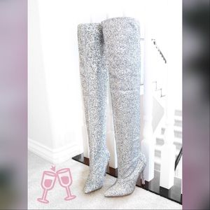 malanie-glitter-stretch-over knee High boots