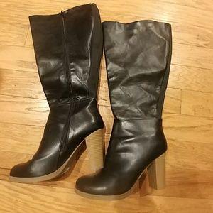 Lane Bryant black boots