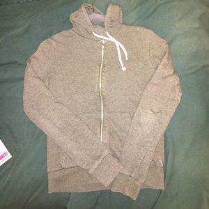 Army green zip up hoodie