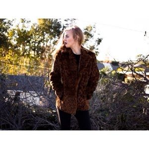Jackets & Blazers - Cheetah Print Fur Jacket (ReList) 🔥 Burning Man