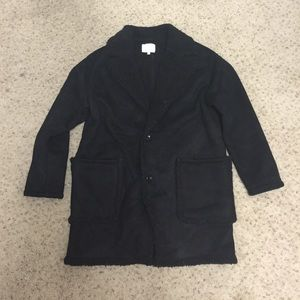 Jackets & Blazers - Black Suede effect jacket
