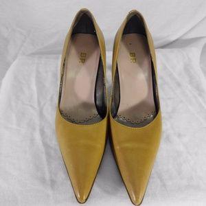 BP Tan Leather High Heels Size 4 Medium