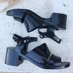 American Apparel Black Jelly Heels