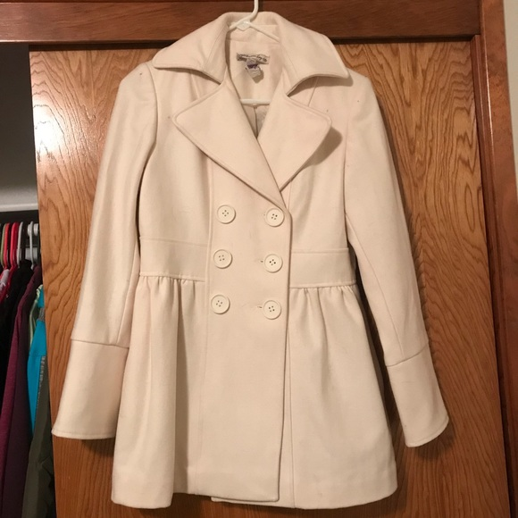 American Rag - Cream Colored Pea Coat from Brittney's closet on ...