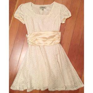 Chloé white eyelet dress