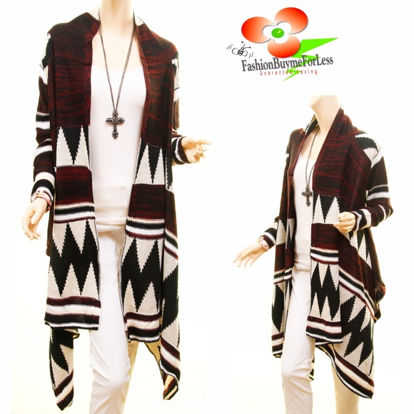 45% off Buyme4Less Sweaters - BOHO Wool Blend Tribal Sweater ...
