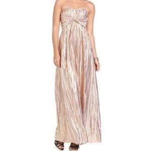 Jessica Simpson blush metallic sweetheart gown