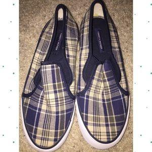 Tommy Hilfiger Plaid Slip-on Shoes