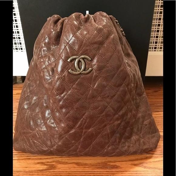 612e4e0356f3 CHANEL Handbags - Authentic Chocolate Chanel Large Tote Bag - sack!