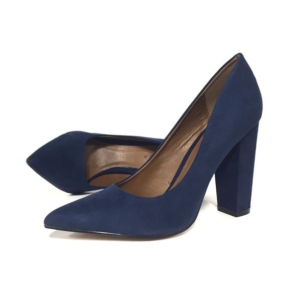 7c138aa326 ShuShop Shoes | Navy Block Heels Pumps 65 | Poshmark