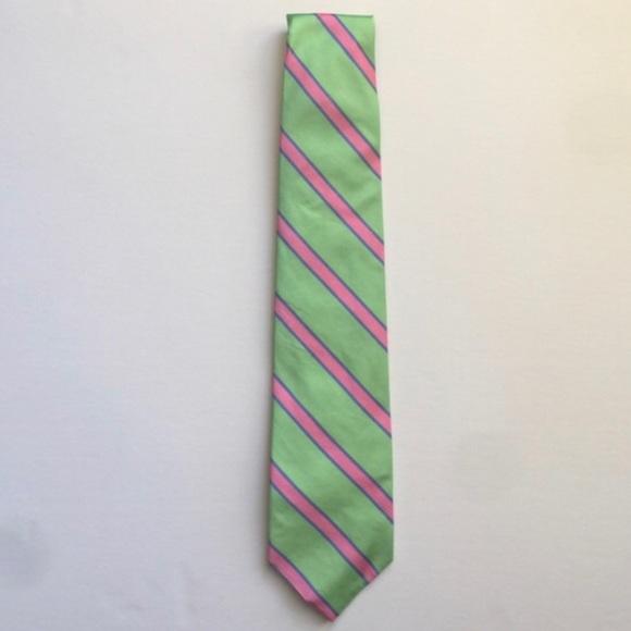 461b60fe8ea9 Brooks Brothers Silk Men's Green Pink Stripe Tie. M_59d0ed756802781d8c08d5ef