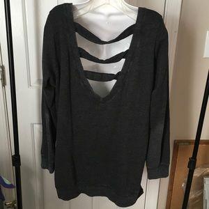 Torrid sweatshirt.  Darling back