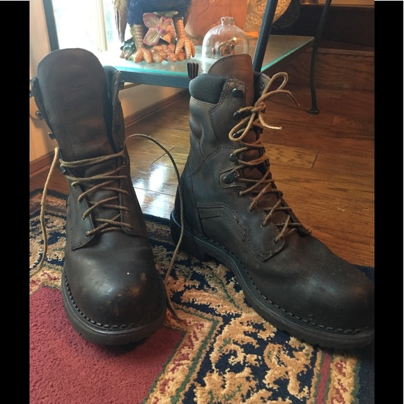 """57bb2c5694d Red Wing 8"""" Steel Toe Work Boots Sz 13D"""