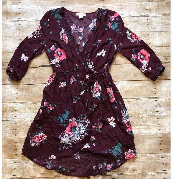 3e1e8f9248 Floral wrap dress worn once
