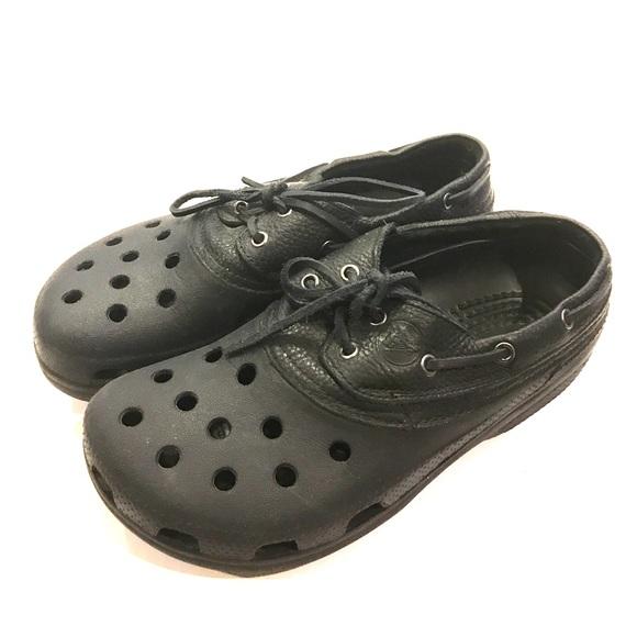 6cf37421b43593 CROCS Other - Crocs Men sz 9 black boat islander shoes