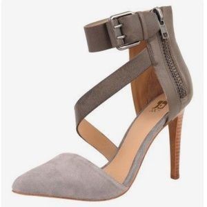 "JOE'S JEANS ""Ali"" Ankle Strap Pointed Suede Pumps"