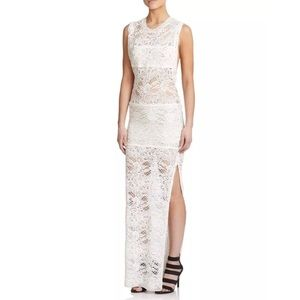 IRO Feliane Lace Maxi Dress in Ivory FR34