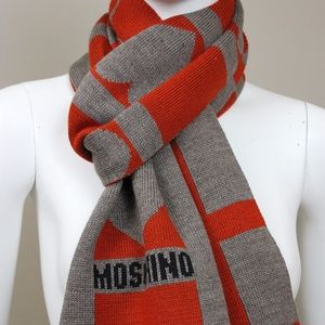 MOSCHINO LOVE HEART COLLECTION WINTER SCARF
