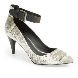 JOE'S JEANS 'Ned' Ankle Strap Snake Pointed Pump