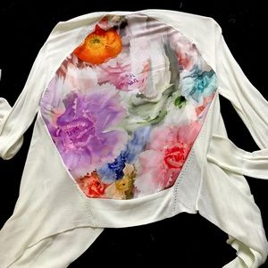 Ted Baker Sweaters - Ted baker floral back cardigan