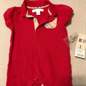 Auth. Burberry children 3 month outfit