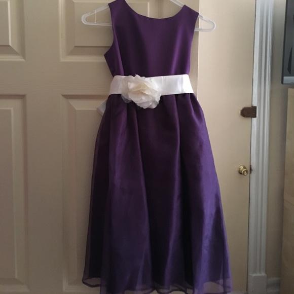 0f1c5752bef47 Dresses | Deep Purple Flower Girl Dress Flower Sash | Poshmark
