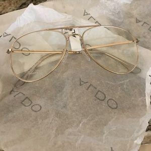 Aldo clear gold glasses